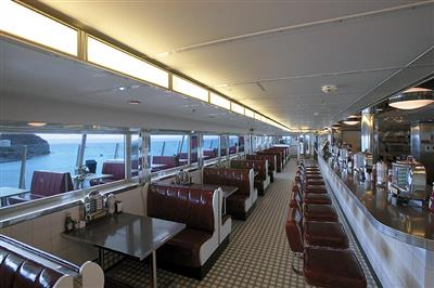 Johnny Rockets, the burger specialist onboard the Eplorer of the Seas