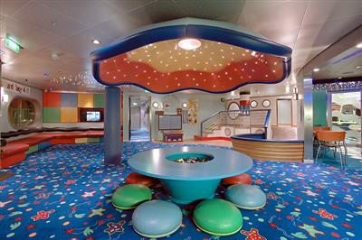 A kids' club on the Explorer of the Seas
