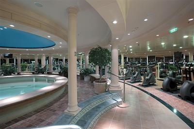 The Jacuzzi inside the Explorer's fitness centre