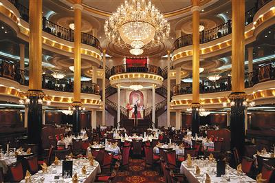 The Nutcracker, lower tier on deck 3 of the main dining room