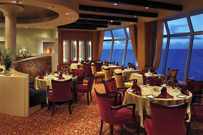 Portofino, the Italian restaurant on the Navigator located on the starboard side of deck 11