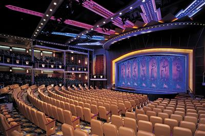 The Royal Theatre, previously called the Metropolis, is furnished in an art deco style