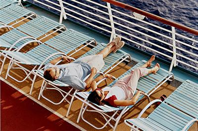 Passengers in their deckl chairs