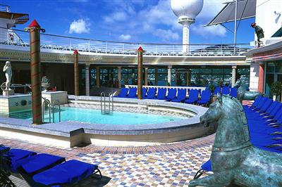 The adult only outdoor Solarium pool on the Navigator of the Seas