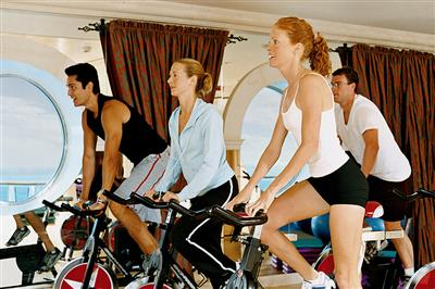 Training on fitnesse bikes