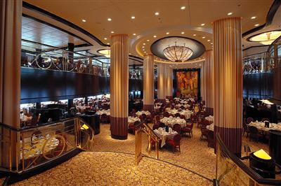 Reflections, the main dining room  on the Serenade of the Seas
