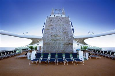 The Rock Wall to experience climbing on the  Serenade of the Seas