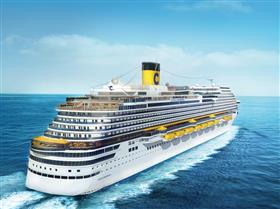 An exterior shot of Costa Diadema