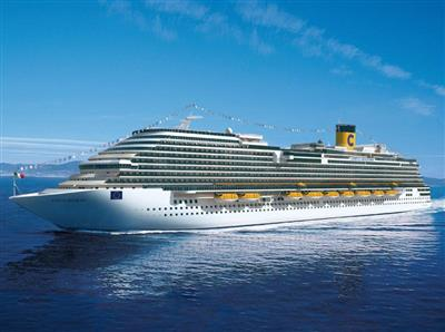 Another image of Costa Diadema  while cruising