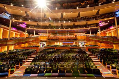 The 868 seat Aurora Theatre on the Radiance of the Seas