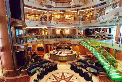 Another view  of the main atrium on the Radiance of the Seas