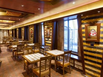 Samsara Restaurant, located on deck 5 of Costa Diadema, offers a lighter, healthy cuisine