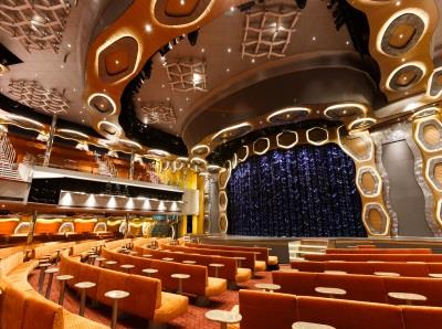 Emerald Theatre, is Costa Diadema's main show lounge and spans from deck 3 to 5