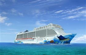 Norwegian Escape, starboard side