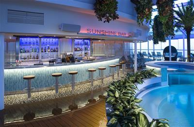 The Sunshine Bar inside the Solarium on Quantum of the Seas