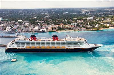 The Disney Dream in crystal  clear waters