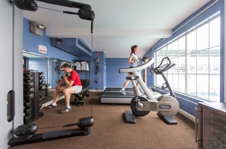 American Queen fitness room