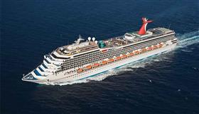 An aerial view of Carnival Valor.