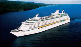 Adventure of the Seas sails along the Atlantic coast.