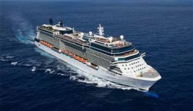 An aerial view of Celebrity Eclipse.