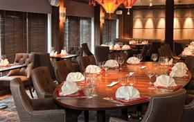 East to West, a reservation only Asian restaurant onboard Saga Sapphire
