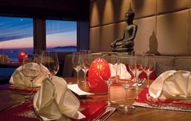 Details of East to West, a dining venue on  the Sapphire by Saga Ocean Cruises