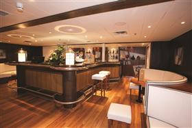 The Sundowner Bar on Saga Pearl's Bridge deck