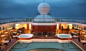 The seawater pool on the Bridge  Deck  of the MV Voyager