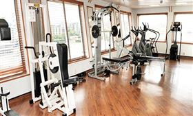 The gym on the MV Voyager