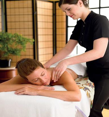 A massage at the Lotus Spa