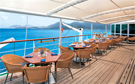 Tables on Wind star's deck