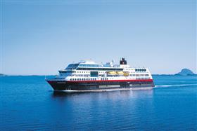 The MS Midnatsol by Hurtigruten, exterior
