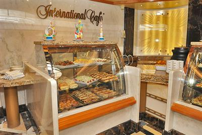 The 24-hours International Café on  Sun Princess' Piazza