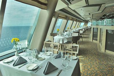 The Sterling Steakhouse on the sun Princess