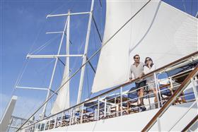 A detail of the  masts | Club Med2 on IgluCruise