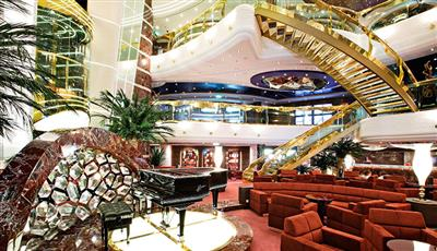 Splendida Bar, the ship's main foyer  bar on deck 5
