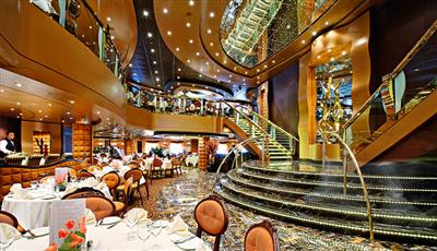 La Reggia, a  626-guests restaurant on deck 5