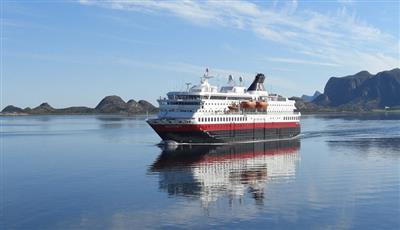 The MS Nordkapp by Hurtigruten, exterior