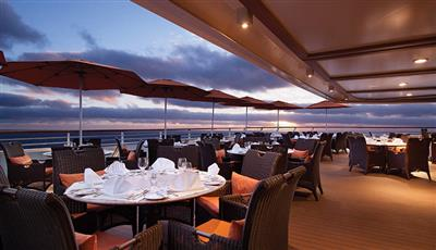 The Terrace Café, an outdoor dining option on Riviera by Oceania Cruises