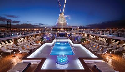 Deck's 12 heated pool on Riviera by Oceania Cruises