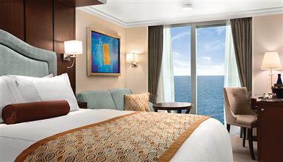 The Veranda stateroom on the Riviera cruise ship
