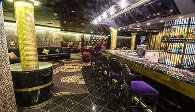 The Bliss Ultra Lounge with pool tables, bowling alleys and nonstop music