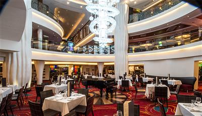 Taste Restaurant, the second biggest dining room on the Norwegian Epic