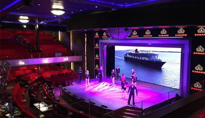 The Royal Court Theatre on Cunard's Queen Mary 2