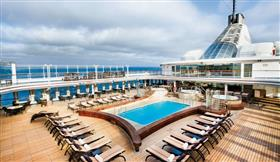 The pool deck on Silver Shadow