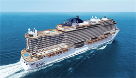 MSC Seaview, exterior, starboard side