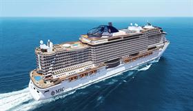 MSC Seaview, exterior, starboard side