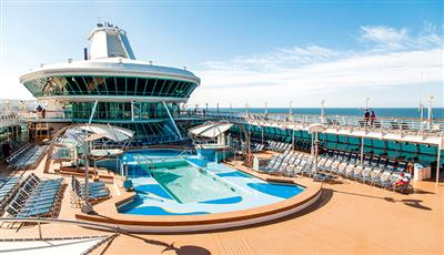 The main pool on Marella Discovery 2 by Marella Cruises