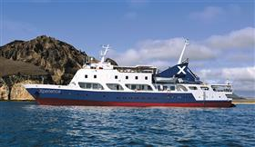 Celebrity Xperience, exterior while sailing.