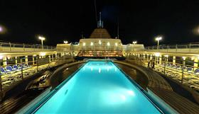 The Riviera Pool on deck 12 with whirlpool  and bar